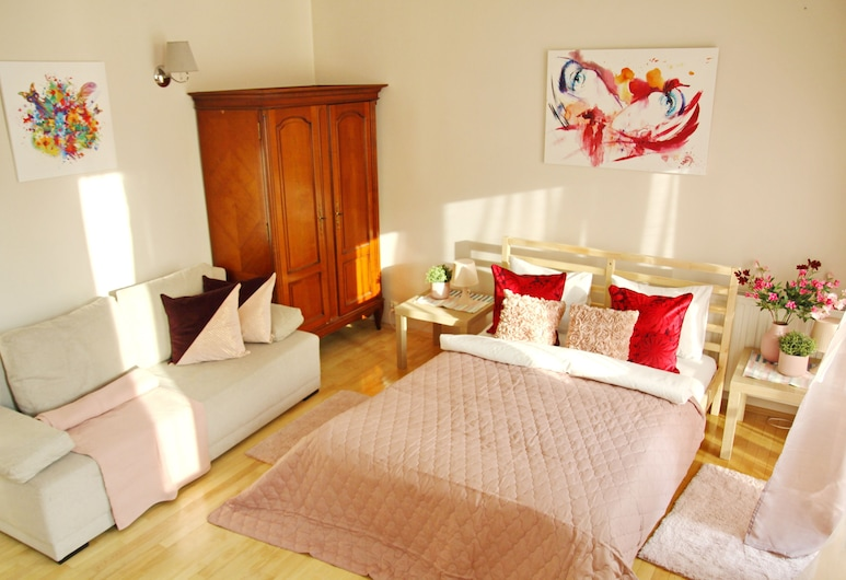Good Morning Krakow Apartments - Arianska, Kraków, Studio, balkon (Flamingo), Pokój