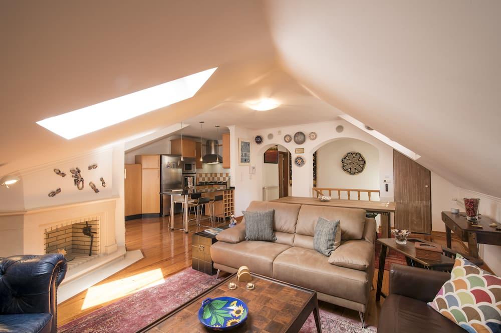 Duplex, 3 Bedrooms (1st and 2nd floor) - Living Room