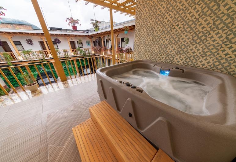 Hotel Boutique Casa Morasan, Quetzaltenango, Heitur pottur úti