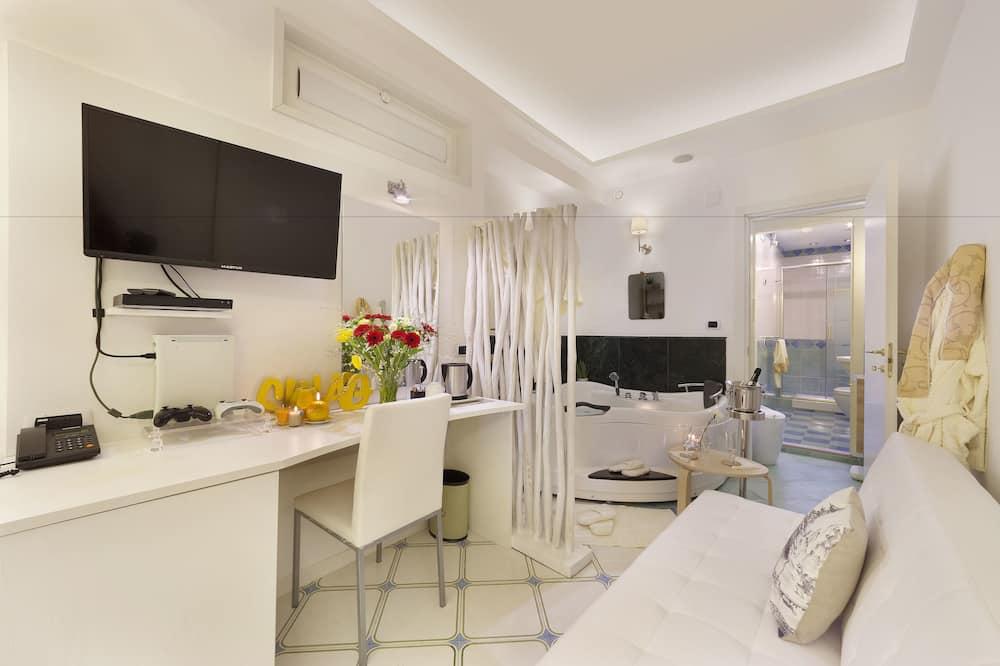 Junior-suite - boblebad - Opholdsområde