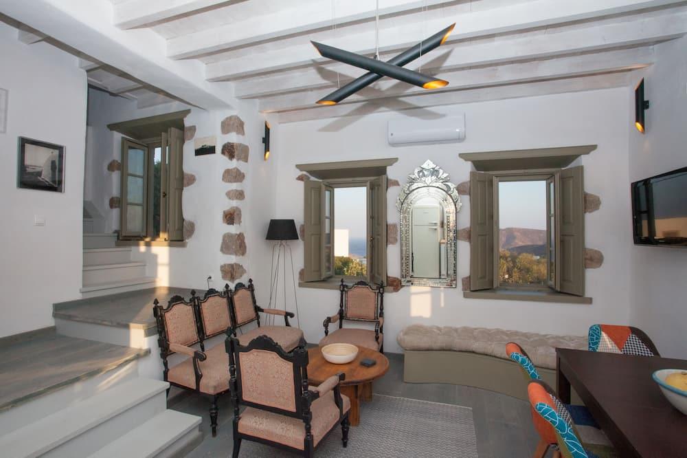 Villa, 2 habitaciones, vista al mar - Sala de estar