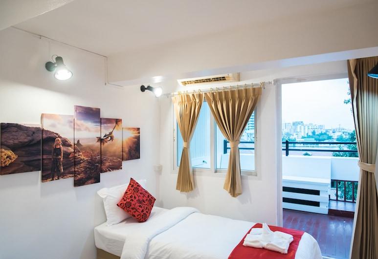 Khaosan Art Hotel, Bankokas, Standard single Room with City View, Vaizdas iš svečių kambario