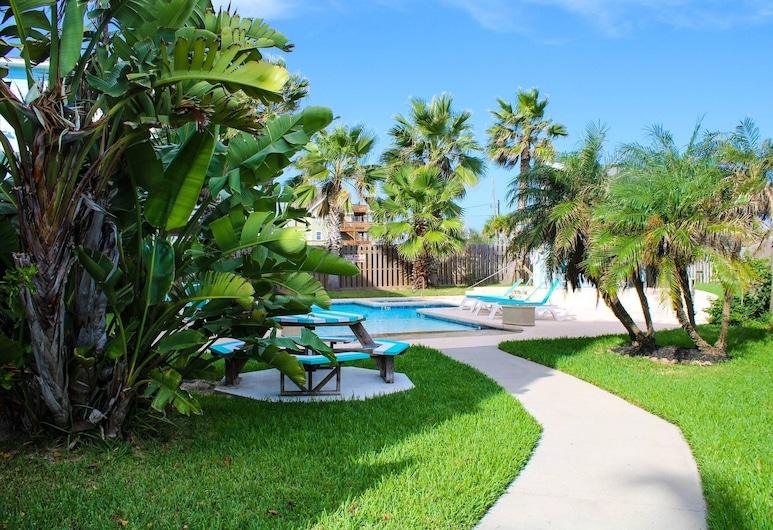 113 Sea Breeze 1 Bedroom Condo, Port Aransas, Korter, 1 magamistoaga, Hotelli territoorium