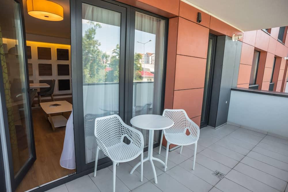 Apartamento, 1 habitación, balcón - Balcón
