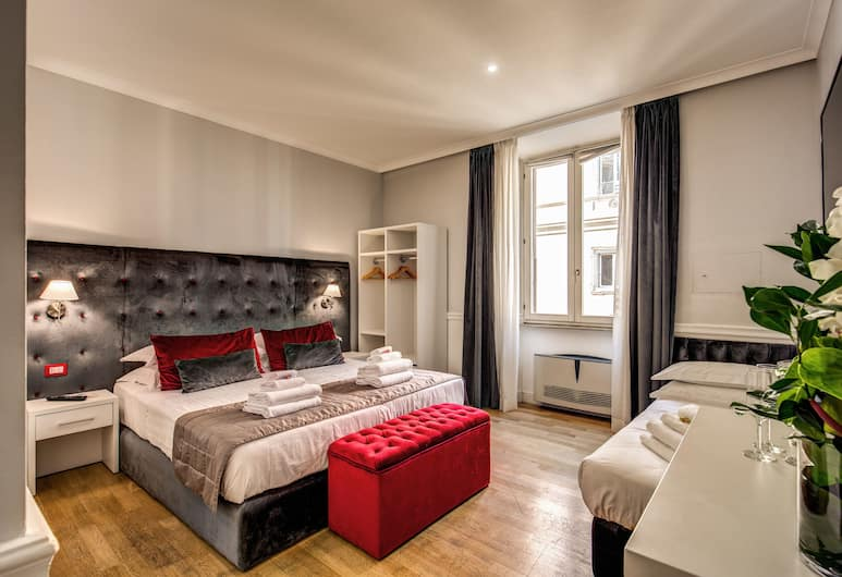 La Foresteria Luxury Rooms & Suite , Rome, Kamar Triple Deluks, Kamar Tamu