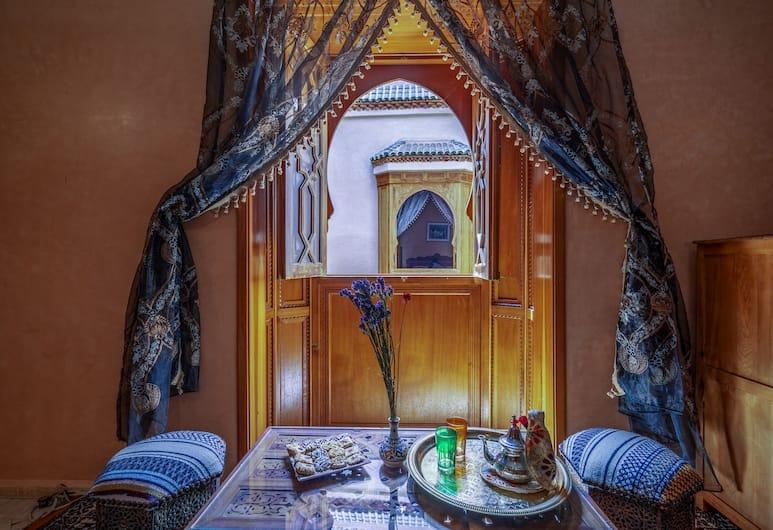 Riad lakouas, Marrakech, Kahden hengen huone (Cannelle), Vierashuone