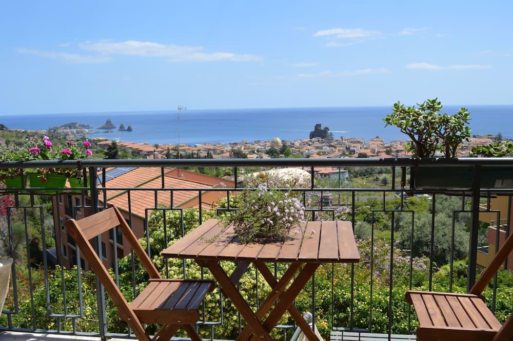 Pokoj Comfort s dvojlůžkem, výhled na moře - Balkón