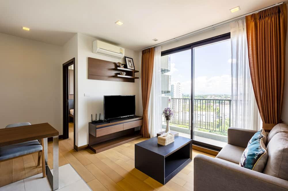 Luksusa numurs, divas guļamistabas, skats uz pilsētu - Dzīvojamā zona