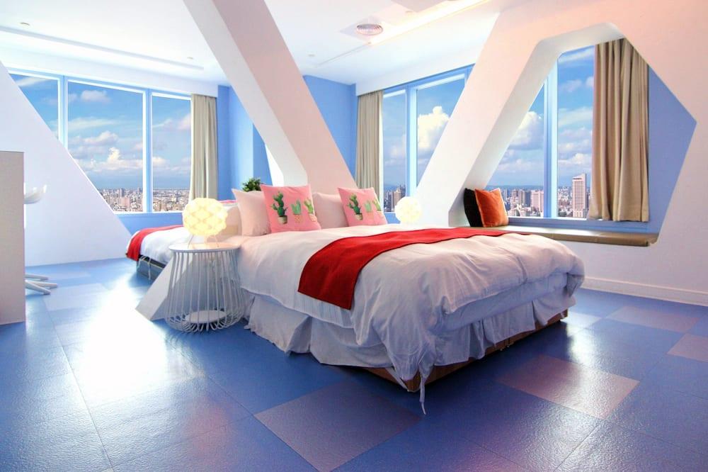 Štvorposteľová izba typu Deluxe, výhľad na mesto - Hosťovská izba