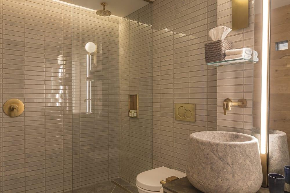 Deluxe-værelse - 1 kingsize-seng - balkon - Badeværelse