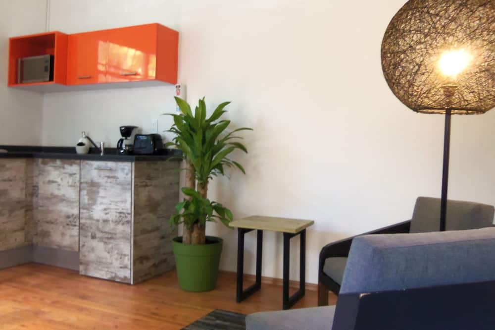 Business Studio, 1 Queen Bed, Kitchen (C7) - Living Room
