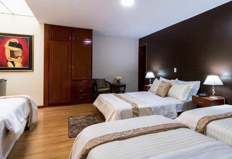 里昂城堡精品飯店, 昆卡, 家庭客房, 多張床, 客房