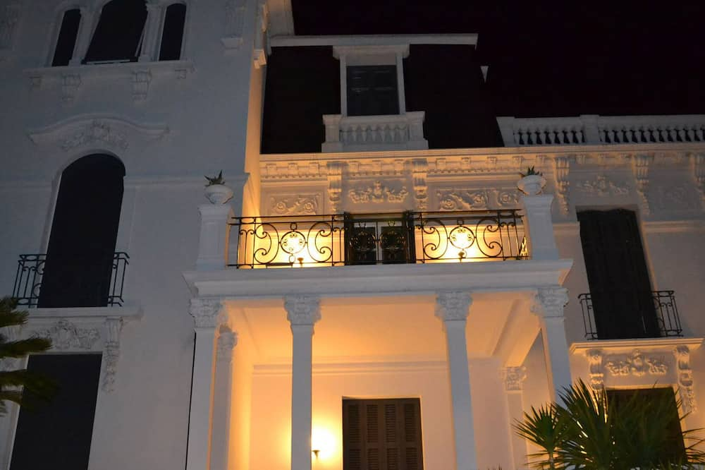 Front of property – evening