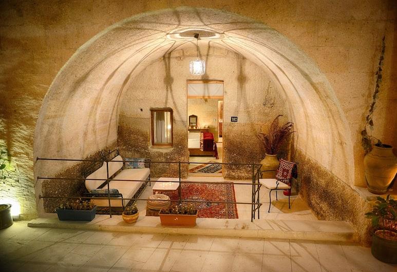 Salkim Cave House, Nevsehir, Deluxe szoba kétszemélyes ággyal, Nappali rész