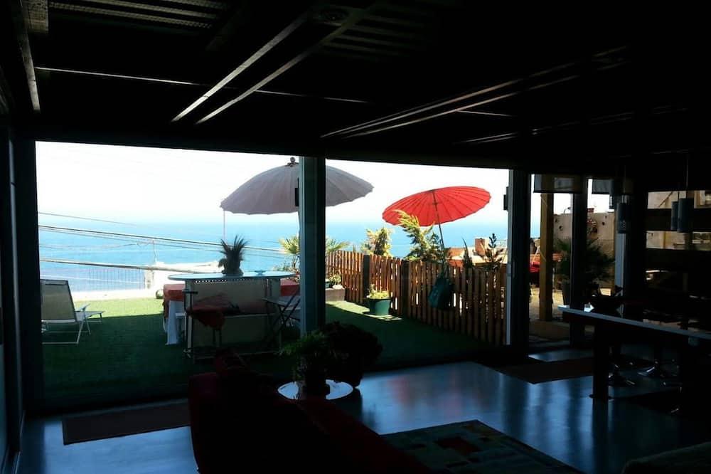 Apartamento Exclusivo, 3 Quartos, Vista Praia - Sala de Estar