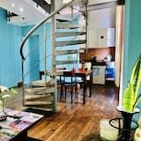 Dvoupodlažní apartmá, balkon (5 people) - Obývací prostor