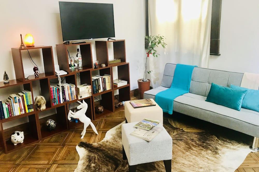 Designový loftový byt, dvojlůžko (180 cm) - Obývací prostor