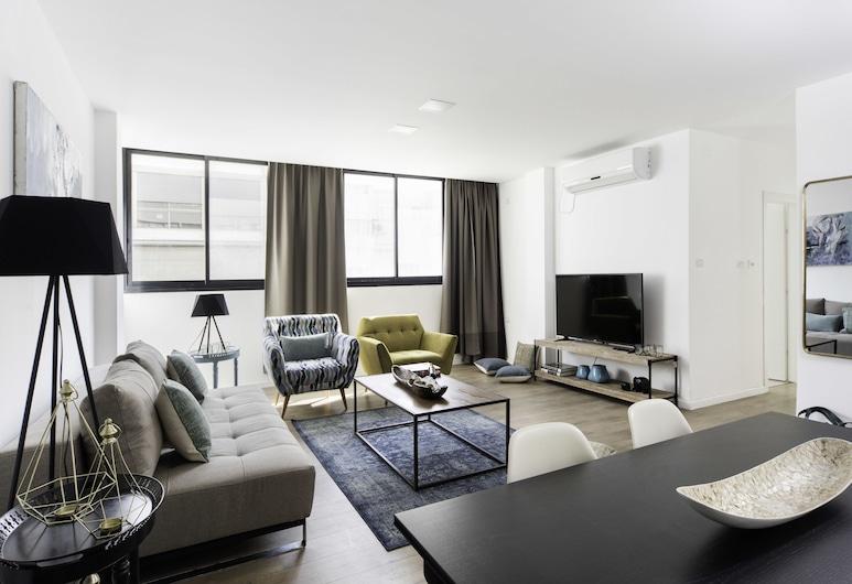Sea N'Rent - 185 Hayarkon Tel Aviv, Tel Aviv, Design külaliskorter, 3 magamistoaga, vaade rannale, Lõõgastumisala