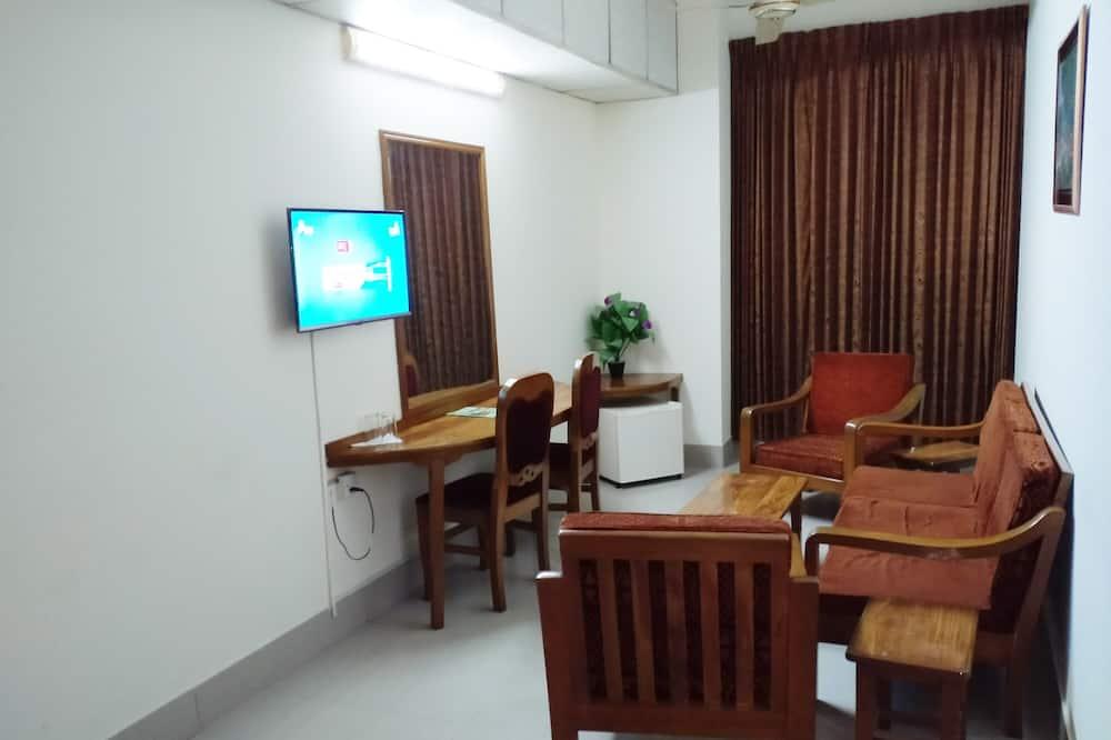 Представительский люкс, 2 двуспальные кровати, представительский уровень - Гостиная