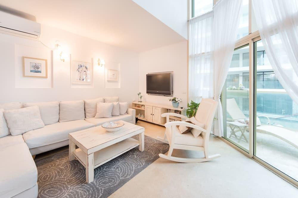 شقة - غرفتا نوم - بمنظر للبحر - منطقة المعيشة