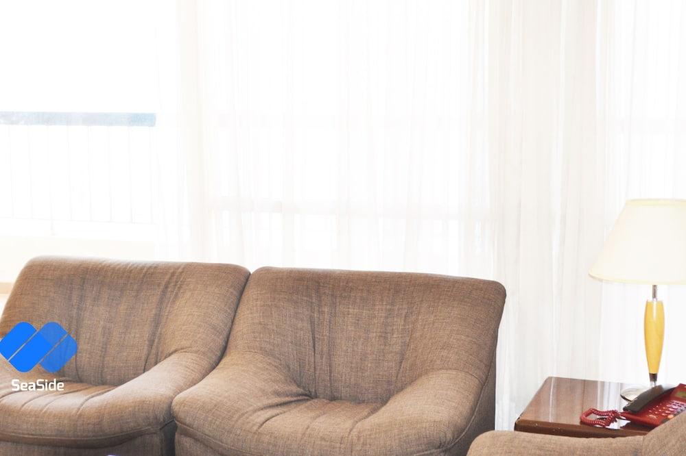 City-Suite, eingeschränkter Meerblick - Wohnzimmer