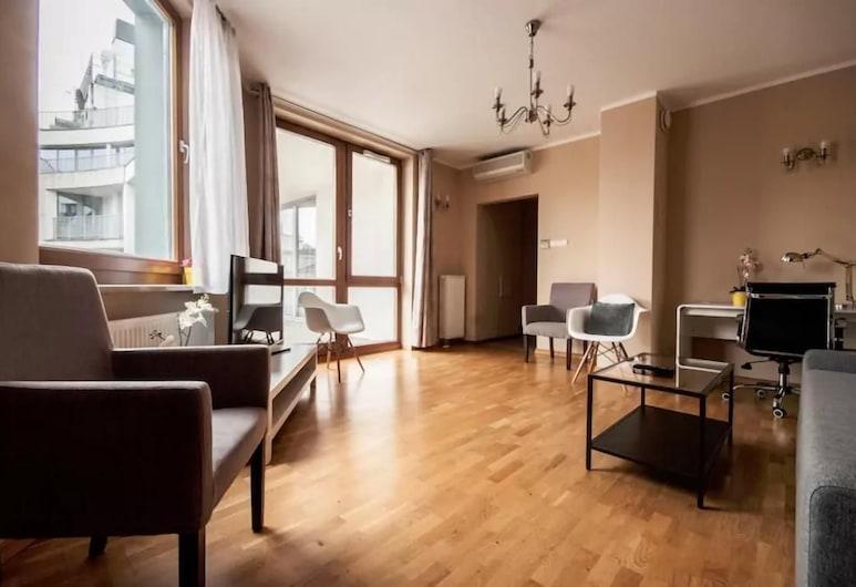 Anton Apartments Piekna, Βαρσοβία, Comfort Διαμέρισμα, 1 Υπνοδωμάτιο, Μπαλκόνι (Number 19), Καθιστικό