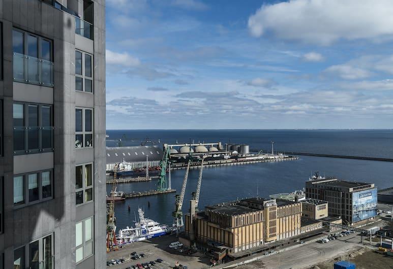 Apartament Glob Gdynia Sea Towers, Gdynia, Apartament typu Deluxe, Widok zpokoju
