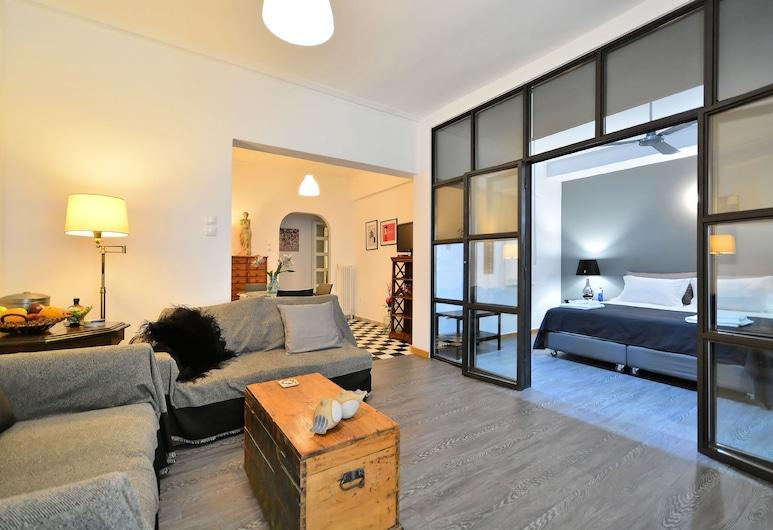 Plaka Elegant Apartment, Atenas, Apartamento, 2 quartos, Vista para a cidade, Área de estar