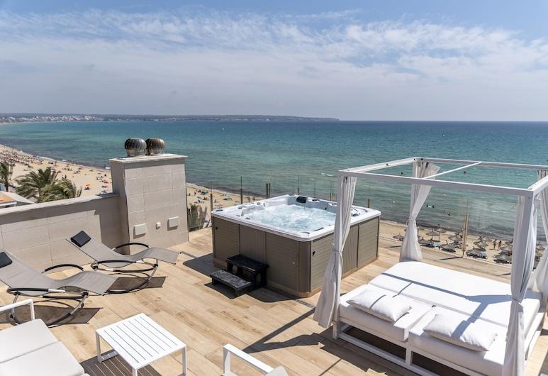 Apartamentos Delfín, Playa de Palma, Appartamento Premium, 2 camere da letto, idromassaggio, vista mare, Terrazza/Patio