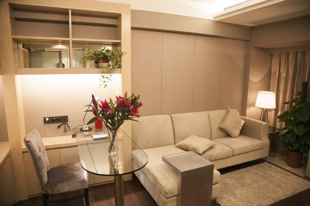 Apartmá typu Deluxe, výhled na moře - Obývací prostor