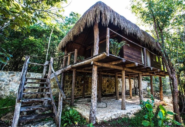 Escarabajo Rojo, Macario Gómez, Cabaña, 1 cama Queen size, cocina básica, Habitación