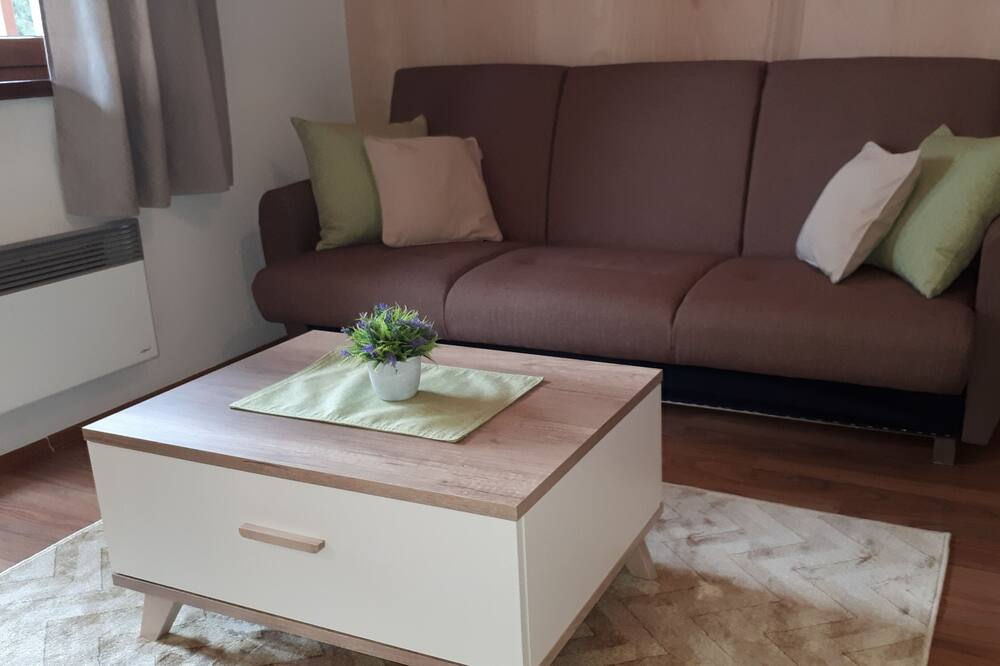 Apartment, Balkon - Wohnzimmer