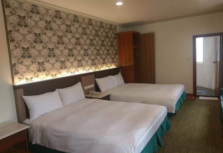 Puyisy Business Hotel, Hsinchu, Quadrupla Deluxe, 2 letti matrimoniali, accessibile ai disabili, Camera