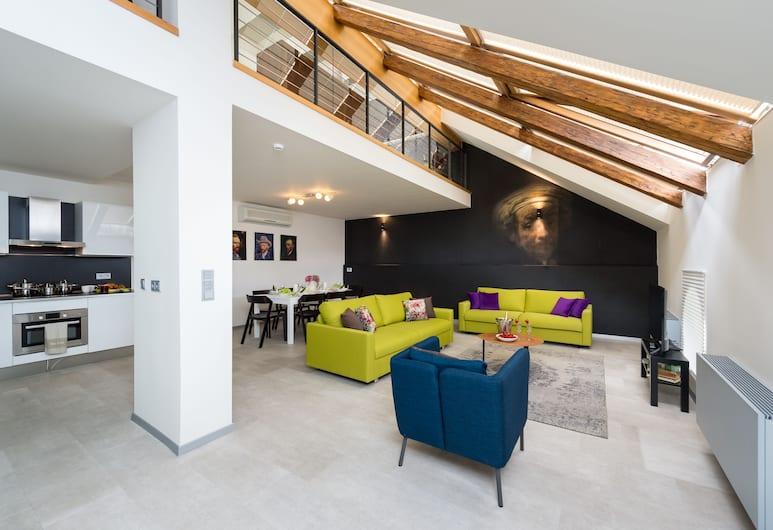 Empirent Beautiful Duplex Apartments, Prag, Apart Daire, 4 Yatak Odası (U Pujcovny), Oturma Odası
