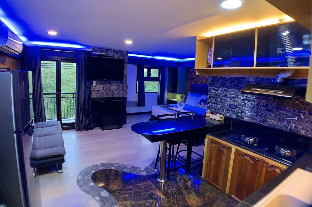 Luxury Stüdyo Süit, 1 Yatak Odası, Engellilere Uygun, Mutfak - Oturma Odası
