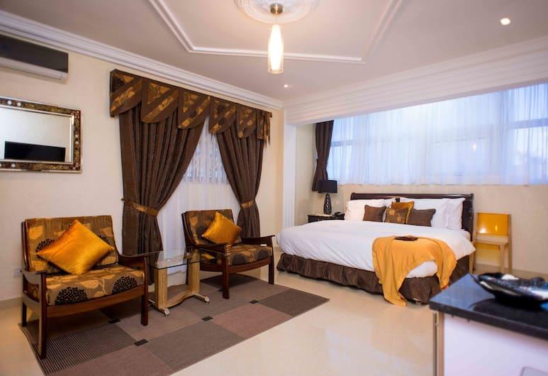 The Ritzz Exclusive Guest House, Akra, Liukso klasės dvivietis kambarys, 1 didelė dvigulė lova, virtuvėlė, Svečių kambarys