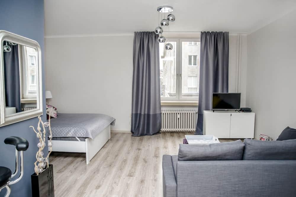 Appartamento Comfort, 1 letto queen con divano letto, non fumatori - Soggiorno