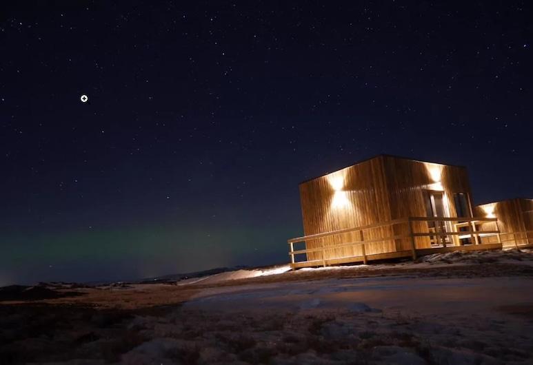 Brú Guesthouse, Rangárþing eystra, Fachada (noche)