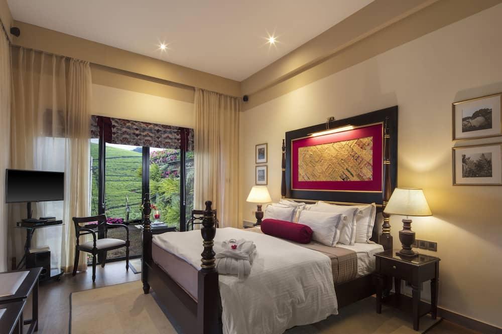 Izba typu Deluxe, 1 extra veľké dvojlôžko, výhľad na hory, s výhľadom do záhrady - Výhľad na hory