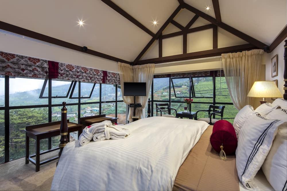 Dvojlôžková izba typu Deluxe, 1 extra veľké dvojlôžko, výhľad na hory - Výhľad na hory