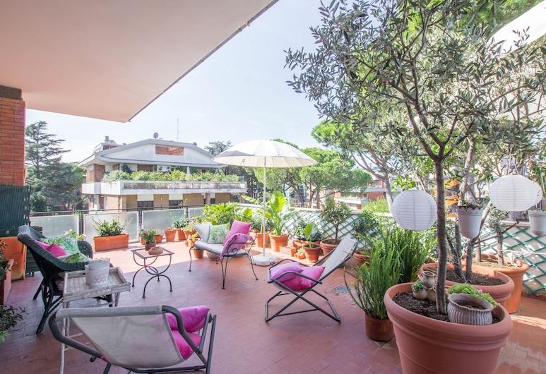 Piccolomini Luxury Terrace, Rom, Panoramic Apartment, 3 Bedrooms, City View, Teres/Laman Dalam
