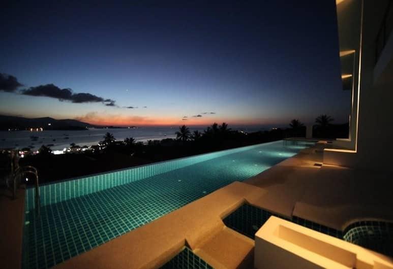 3 房海景日落公寓酒店, 蘇梅島, 室外泳池