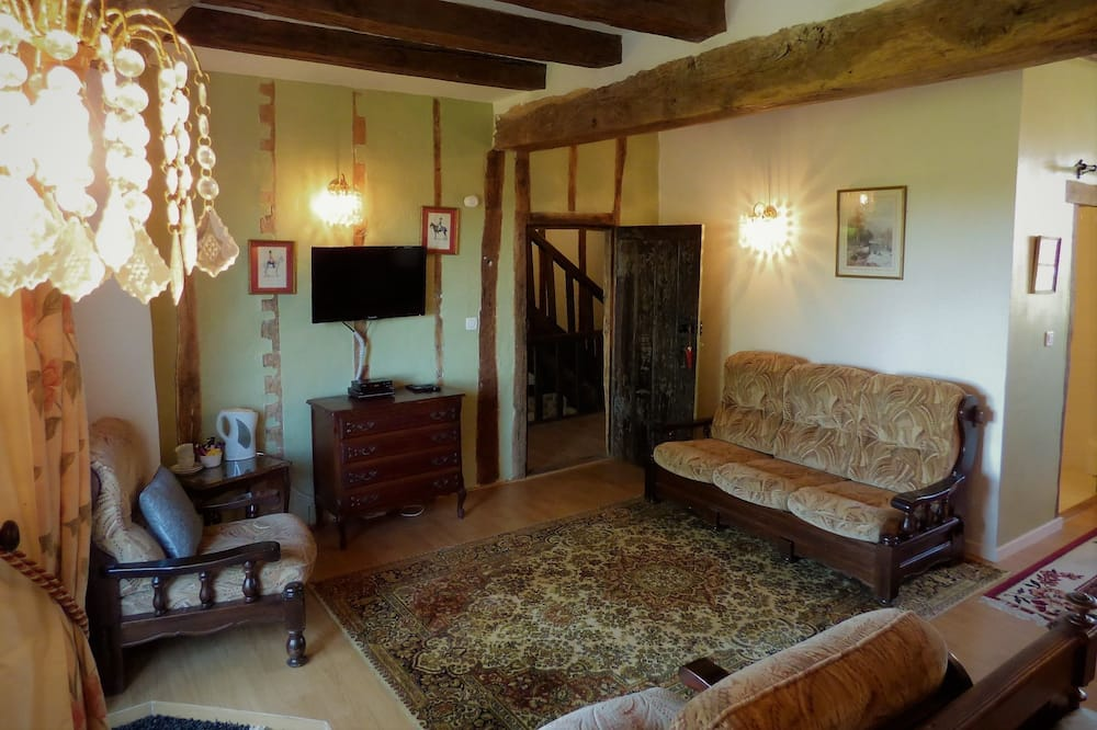 Luxury Oda, 1 Yatak Odası, Balkon, Bahçe Manzaralı - Oturma Alanı