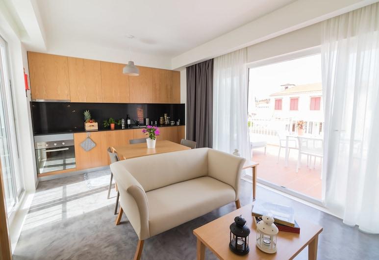 馬德拉歡迎飯店, 芳夏爾, 尊榮公寓, 1 張特大雙人床, 客廳