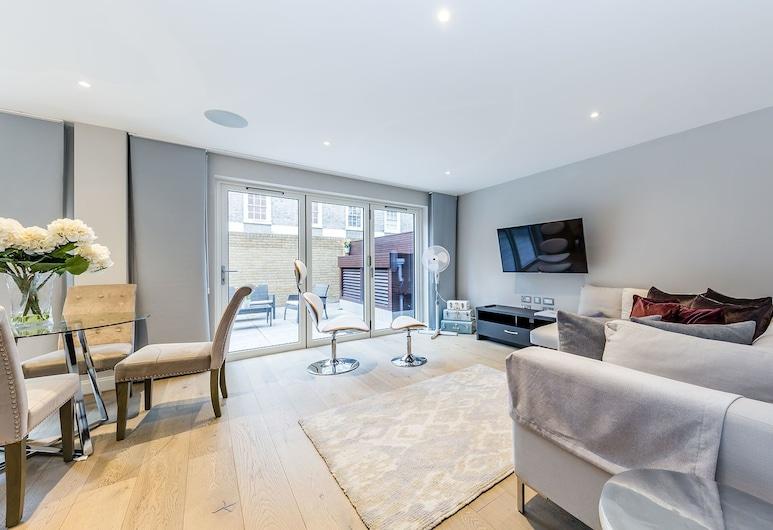 中倫敦豪華聖詹姆士公寓酒店 - 附免費 Wi-Fi - 倫敦城市住宿酒店, 倫敦, 公寓, 2 間臥室, 露台, 地面, 客房