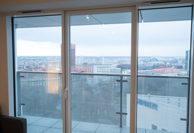 Poznań Apartments Towarowa, Poznan, Leilighet – deluxe, 1 soverom, utsikt mot byen, Balkong