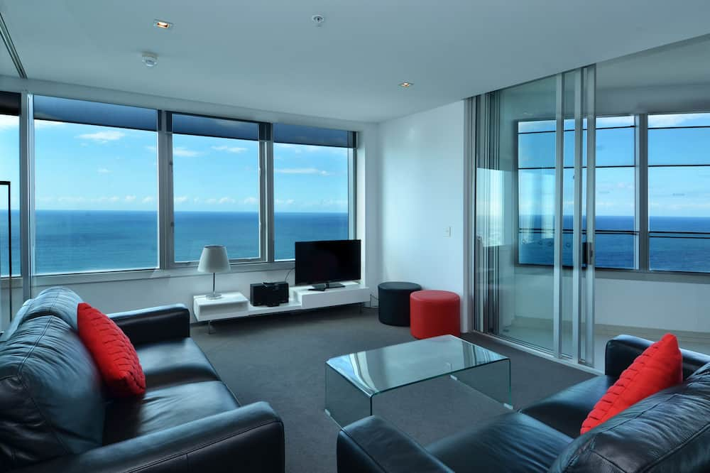 Apartamento, 2 habitaciones, 2 baños, vistas al mar (Apartment 4204) - Sala de estar
