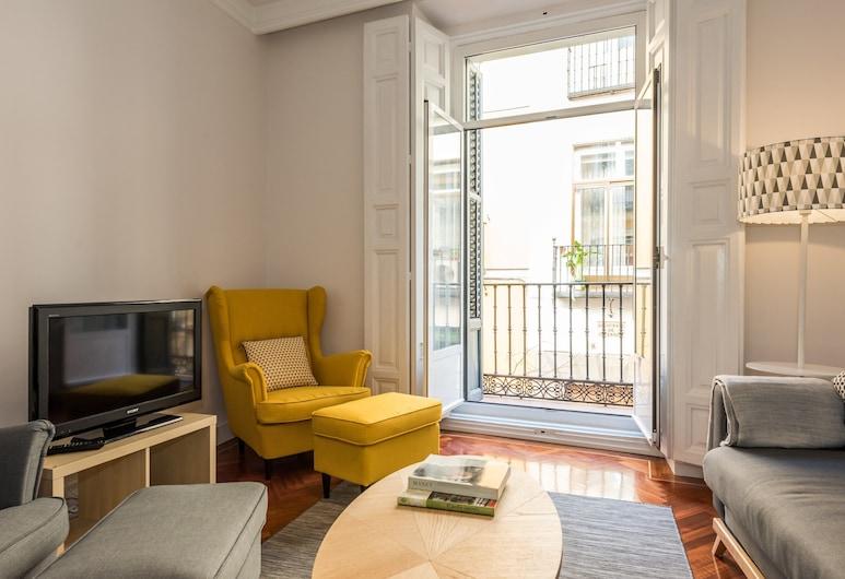 Huertas City Center, Madryt, Apartament, 3 sypialnie, balkon, Salon