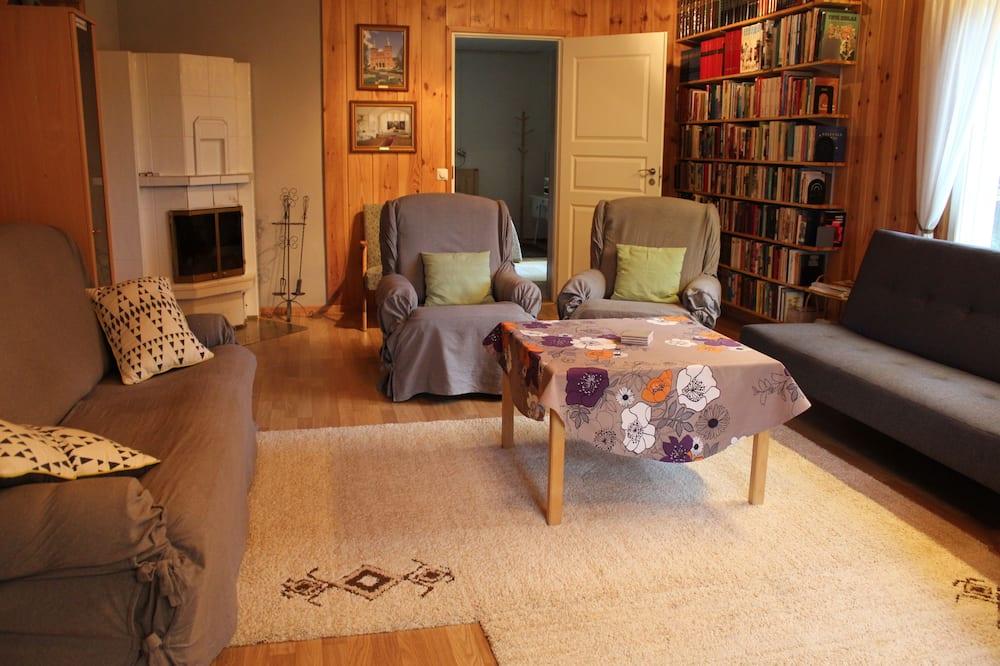 Perhetalo, 1 makuuhuone, Sauna - Olohuone