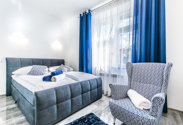 City Lights Apartments - Bosacka, Kraków, Apartament typu City, 1 sypialnia, aneks kuchenny (Bosacka 16), Pokój